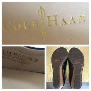 Cole Haan Shoes - Cole Haan Air Tali.OT. Black Patent Wedge SZ 7